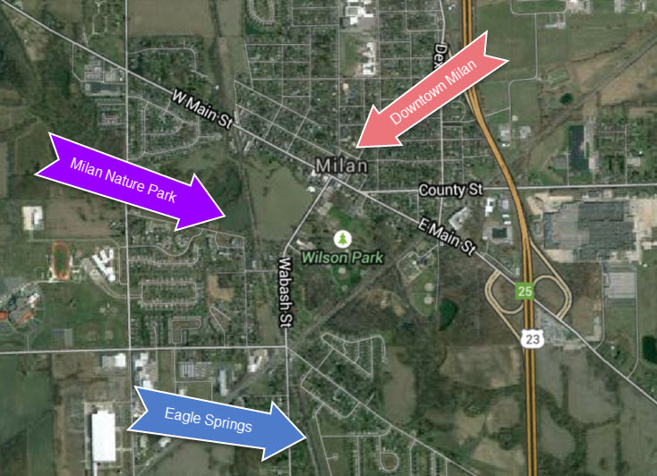 google map to eagle springs milan mi